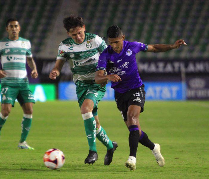Sin afición, Mazatlán FC empata en su encuentro con Santos