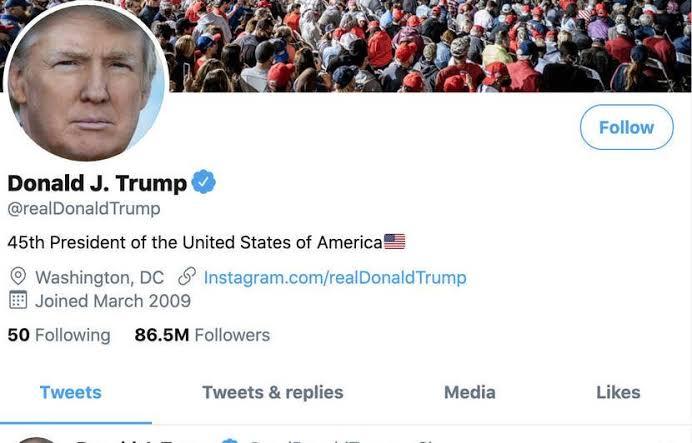Twitter congela la cuenta de Trump por incitar actos violentos