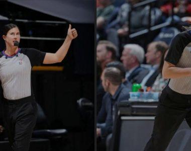 Por primera vez dos mujeres oficiarán partido de la NBA