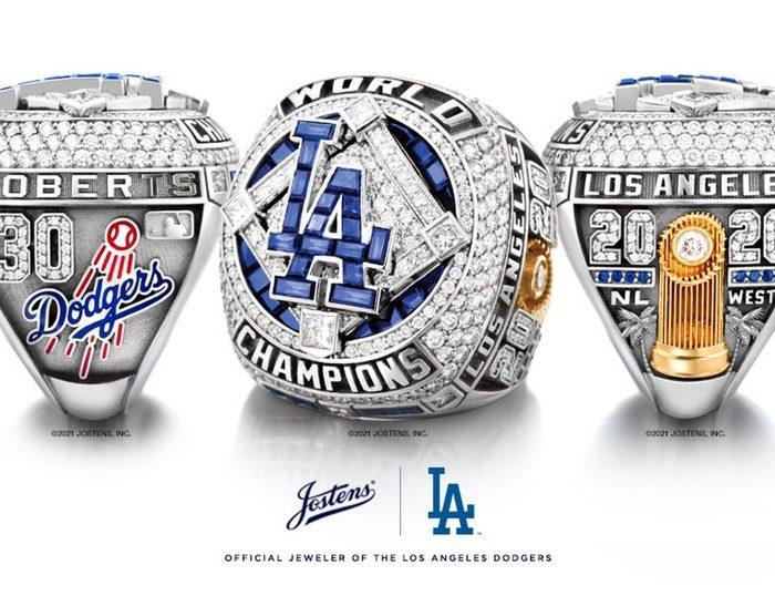 Los Dodgers presentan su anillo de Serie Mundial
